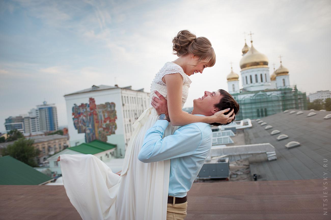 Таня и Александр. Свадебная фотосессия на крыше