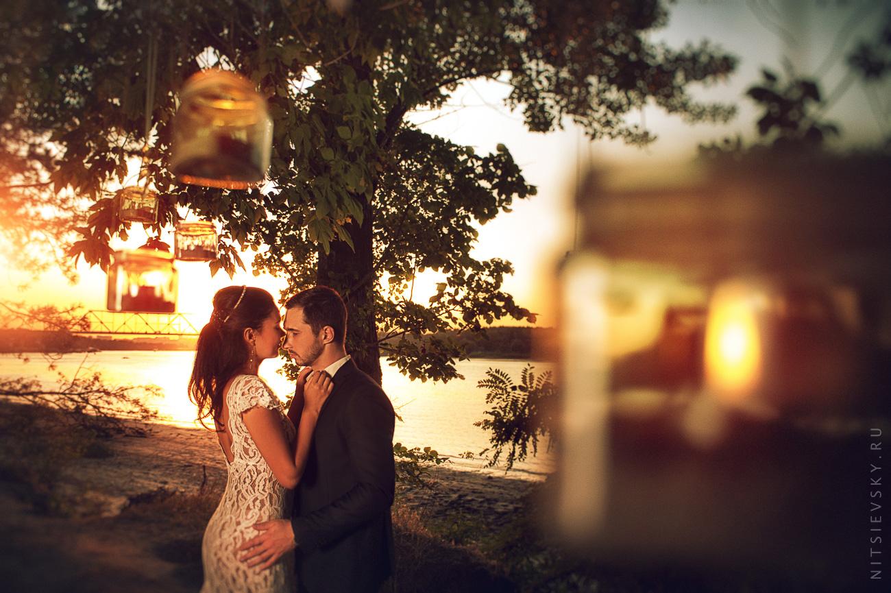 Свадебная фотосессия на закате. Юлия и Павел